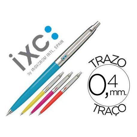 Boligrafo Inoxcrom 55 Retractil 0.8 mm Tinta color Azul