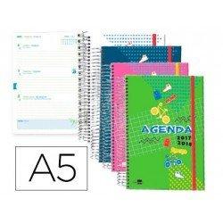 Agenda Escolar 17-18 Semana Vista DIN A5 Bilingüe Liderpapel Classic No se puede elegir color