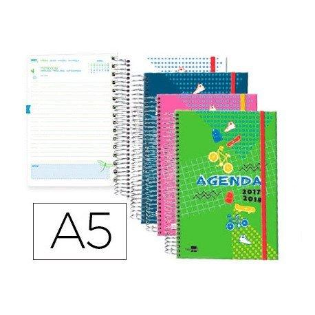 Agenda Escolar 17-18 Dia por pagina DIN A5 Catalan Liderpapel Classic No se puede elegir color