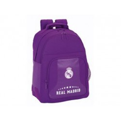 Mochila Escolar Doble Real Madrid Sin Carro 32x15x42 cm 2ª equipacion