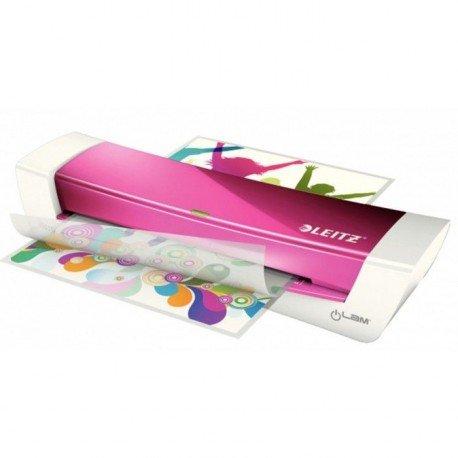 Plastificadora Leitz DIN A4 con 2 Rodillos hasta 100MC color Fucsia