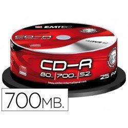 CR-R Emtec 700mb 80min velocidad maxima 52X 25 unidades