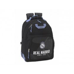 Mochila Escolar Real Madrid Adaptable a Carro 32x17x43 cm Black