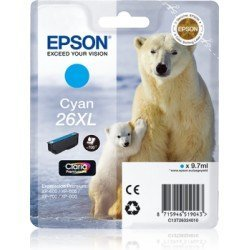 Cartucho Epson 26XL color Cian C13T26324012