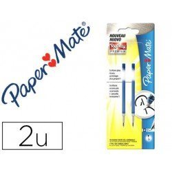 Recambios boligrafo Paper Mate Replay Premium Color Azul Tinta Gel 2 unidades