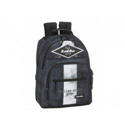 Mochila Escolar Doble Lotto Sin Carro 32x15x42 cm Grunge