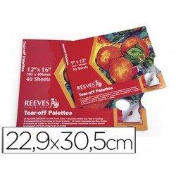 Paleta de Papel Desechable Reeves Paquete 40 hojas Tamaño 22,9x30,5 cm