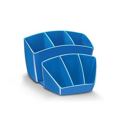 Organizador sobremesa CEP 143x158x93 mm 8 Compartimentos Plástico color Azul