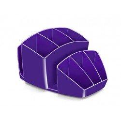 Organizador sobremesa CEP 143x158x93 mm 8 Compartimentos Plástico color Violeta