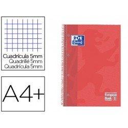 Cuaderno Oxford Ebook 1 DIN A4+ Coral Tapa Extradura Cuadricula 5 mm