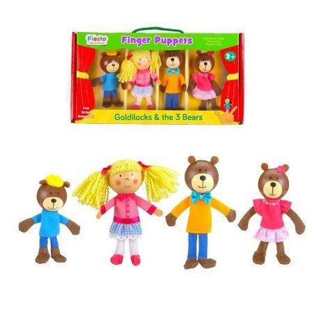 Marioneta de dedo Personajes Ricitos de Oro partir de 3 años marca Fiesta Crafts