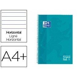 CUADERNO ESPIRAL OXFORD EBOOK 1 TAPA EXTRADURA DIN A4+ 80 H HORIZONTAL AQUA INTENSO TOUCH