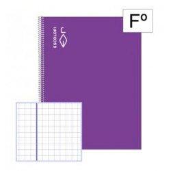 Libreta Escolofi Espiral Folio 100 hojas Cuadricula 4x4 mm Con Margen 180981106 - bajo pedido -
