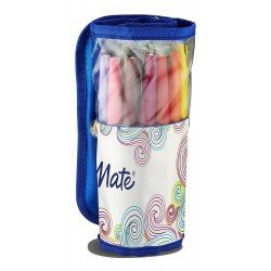 Rotuladores Paper Mate Flair Punta de Fibra Estuche enrollable con 16 colores