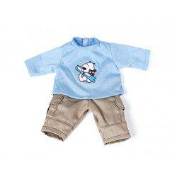 Juego Ropa para muñeco de hasta 32 cm sudadera y pantalon Miniland