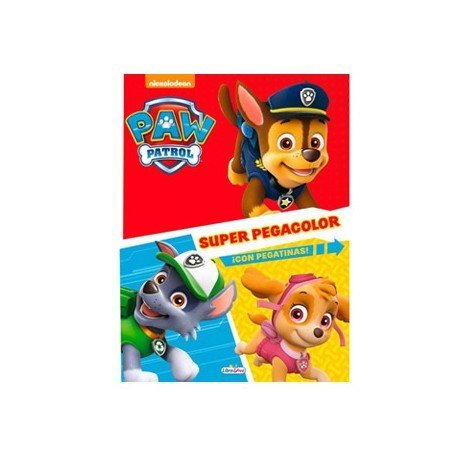 Cuaderno de colorear Patrulla Canina Super Pegacolor 40 pags Saldaña