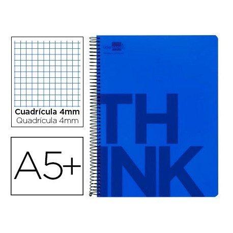 Bloc Cuarto marca Liderpapel serie Think cuadricula 4 mm azul