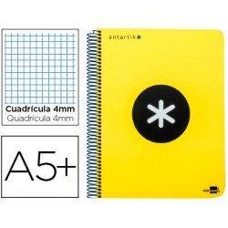 Bloc marca Liderpapel Cuarto Antartik cuadricula 4 mm amarillo polipropileno