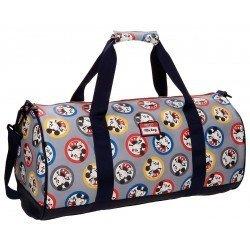 Bolsa de viaje 27x50x27 cm en Microfibra y PVC Mickey Circles