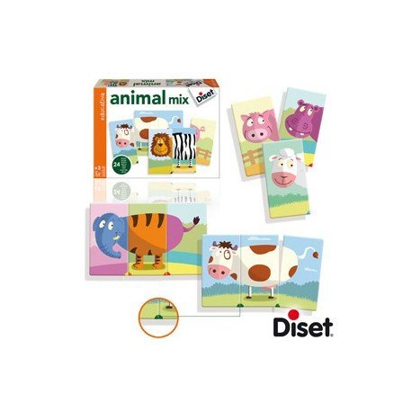 JUEGO DISET DIDACTICO ANIMALS MIX