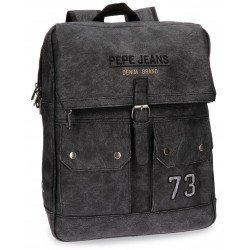 Mochila Pepe Jeans Piel Sintética 32x41x14,5 cm Jack Gris para portátil