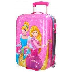 Maleta de cabina 50x31x20 cm Rígida 2 ruedas Princesas Disney