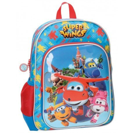 Mochila Super Wings Microfibra 29x38x12 cm Team Azul