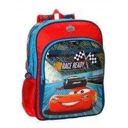 Mochila Cars Microfibra 30x40x13 cm Race Roja doble compartimento