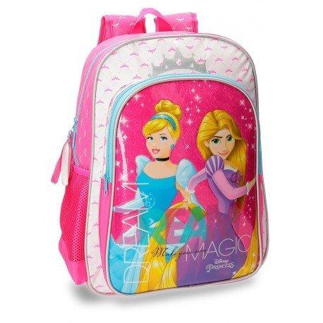 Mochila Disney Microfibra 30x40x16 cm Princesas Rosa