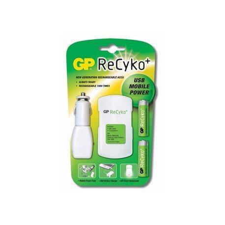Cargador de pilas Recyko movil power 2-2,5horas pack con 2 pilas AA Recyko