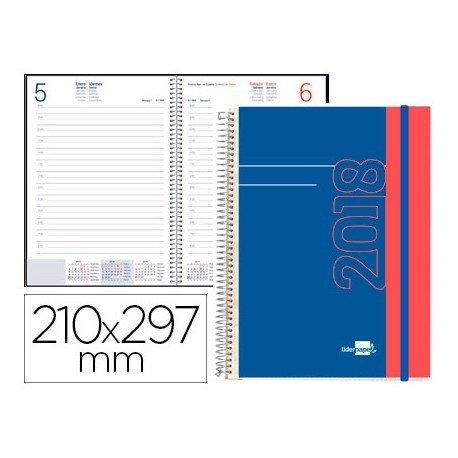 Agenda 2018 Espiral Tinos Dia Pagina DIN A4 Portada personalizable Liderpapel