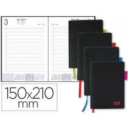 Agenda 2018 Encuadernada Sifnos Dia pagina DIN A5 Colores surtidos Liderpapel