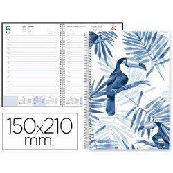 Agenda 2018 Espiral Cahnia Dia pagina 150x210 mm Blanca Liderpapel