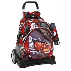 CARTERA ESCOLAR SAFTA CON CARRO CARS 3 330X150X430 MM
