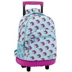 CARTERA ESCOLAR SAFTA CON CARRO MOOS UNICORN 320X210X450 MM