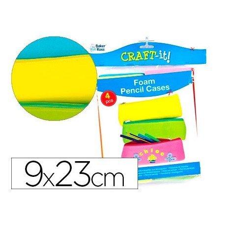Goma Eva Colores surtidos 9x23 cm Bolsa de 4 uds