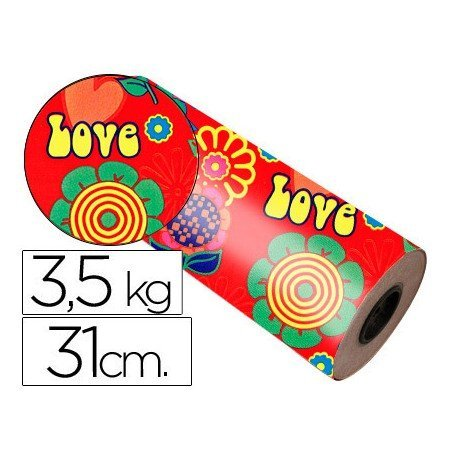 Bobina papel tipo verjurado Impresma 31 cm 3,5 kg star 7034