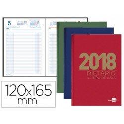 Libro de caja Liderpapel 12X16,5 cm 2018 Octavo Dietario en Colores Surtidos