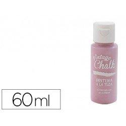 Pintura Acrilica Vintage Chalk de Efecto Tiza Color Rosa Pétalo 60 ml Chalk Paint
