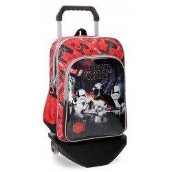 Mochila Star Wars VIII 40x30x13 cm de Microfibra con ruedas
