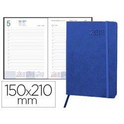 Agenda 2018 Encuadernada Esparta Dia pagina 150x210 mm Azul Liderpapel