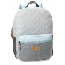 Mochila Pepe Jeans 32x42x16 cm de Poliéster Ripple Adaptable a maleta