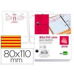 Recambio Bloc Bufete Anual 2018 Catalan 80x110 mm marca Liderpapel