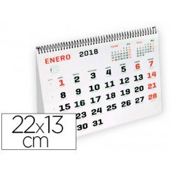 Calendario 2018 Espiral Triangular 22x13 cm marca Liderpapel