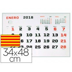 Calendario 2018 de Pared Catalan 34x48 cm marca Liderpapel