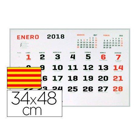 CALENDARIO PARED LIDERPAPEL 2018 34X48 CM PAPEL 70 GR TEXTO EN CATALAN