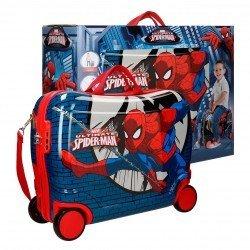 Maleta correpasillos 39x50x20 cm Rígida 4 ruedas Spiderman Comic