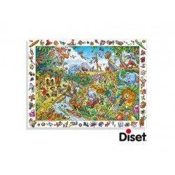 Puzzle Descubriendo el safari a partir de 5 años 70 piezas Diset