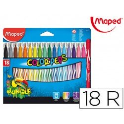 Rotuladores Maped Color Pepes Jungle Caja de 18 unidades
