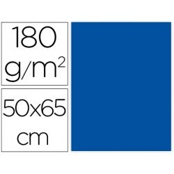 Cartulina Liderpapel Azul 50x65 cm 180 gr Pack de 25 uds